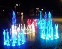 Подсветка светодинамического фонтана в Дзинтари