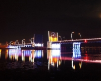 Освещение моста через р. Вента, Вентспилс
